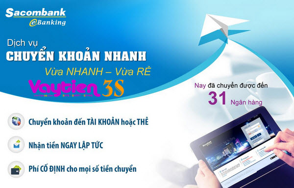 Danh sách ngân hàng liên kết với Sacombank - Vay tiền 3S