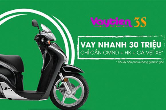 Vay tiền theo Cavet xe máy Honda, Yamaha, SYM - Vaytien3s.com