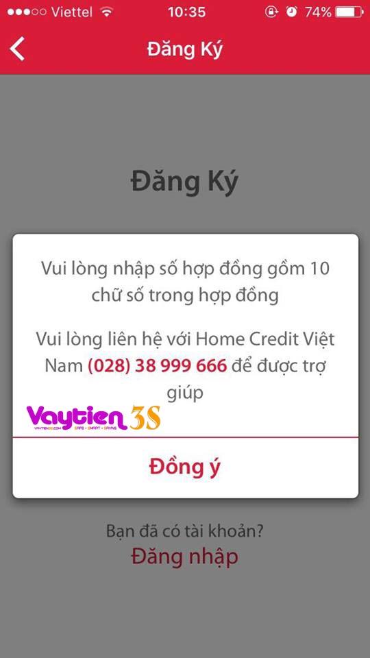 Vay tiền trả góp Home Credit