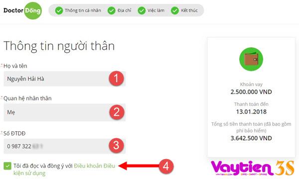 Cách vay tiền Online tại Doctor Đồng