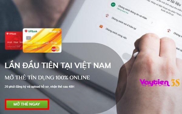 Cách đăng ký mở thẻ tín dụng VP Bank Online