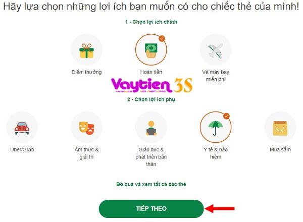 Nhiều ưu đãi khi mở thẻ tín dụng VP Bank Online