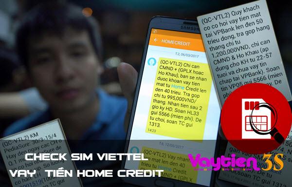 Cách check SIM Viettel vay tiền tại Home Credit, thực hiện CHI TIẾT có ảnh minh họa