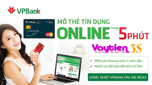 Thẻ tín dụng VPBank Platinum, mở thẻ 20 phút, nhận thẻ 48h; yêu cầu thu nhập 15tr/tháng