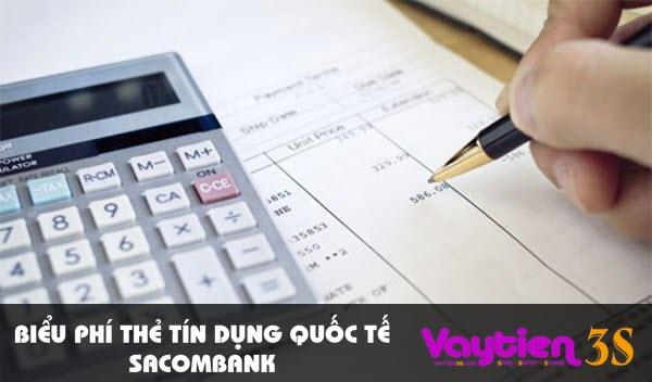 Biểu phí thẻ tín dụng quốc tế Sacombank