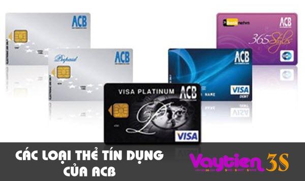 Các loại thẻ tín dụng của ACB – ĐA DẠNG, nhiều tiện ích