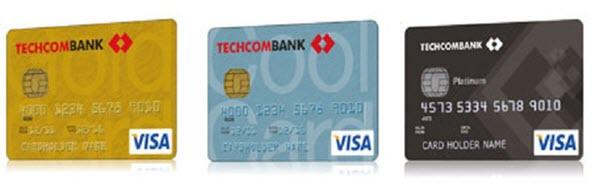 Các loại thẻ tín dụng của Techcombank