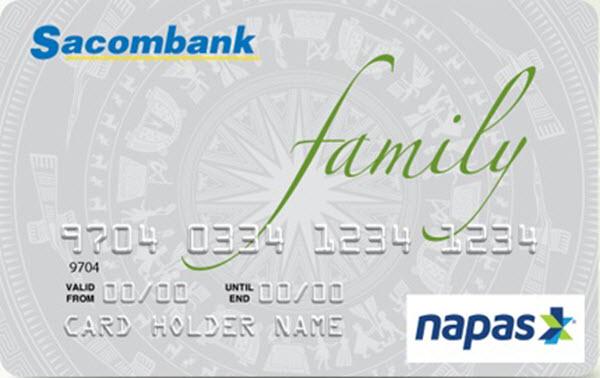 Lãi suất thẻ tín dụng Sacombank Family