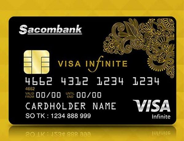 Thẻ tín dụng Sacombank Visa Infinite