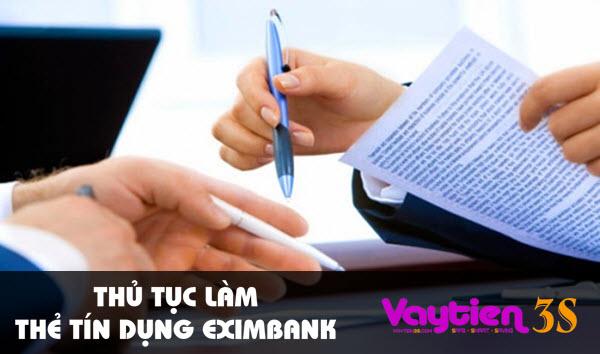 Thủ tục làm thẻ tín dụng Eximbank